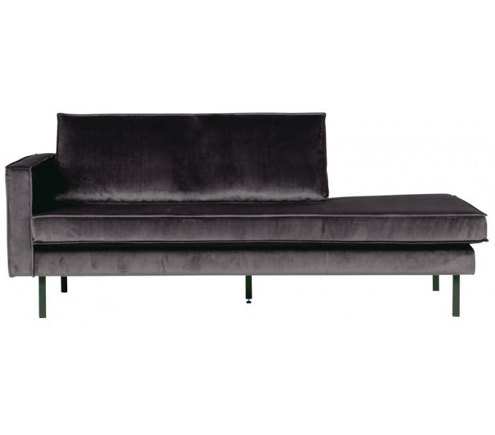 Daybed sofa i velour B206 cm – Antracit