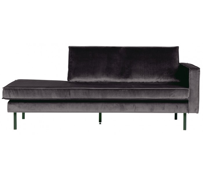 Daybed sofa i velour B206 cm - Antracit