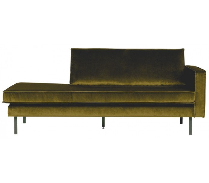 Image of   Daybed sofa i velour B206 cm - Oliven