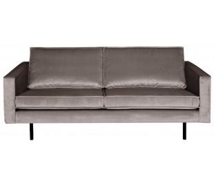 2,5-personers sofa i velour B190 cm - Taupe