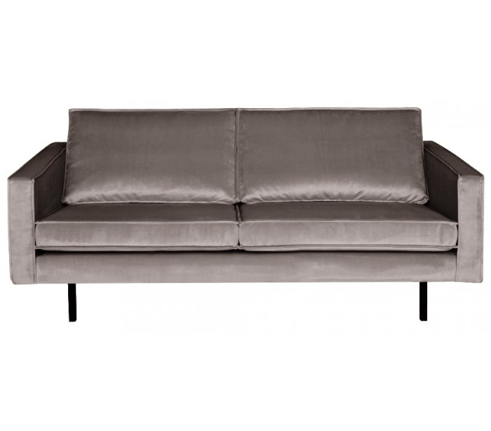 Image of   2,5-personers sofa i velour B190 cm - Taupe