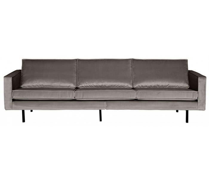 Image of   3-personers sofa i velour B277 cm - Taupe
