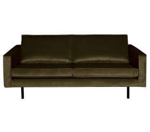 2,5-personers sofa i velour B190 cm - Mørkegrøn