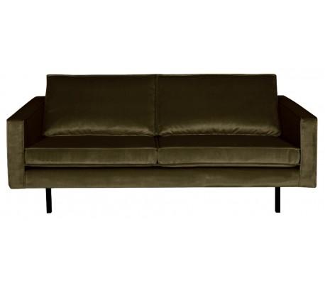 2,5-personers sofa i velour B190 cm – Mørkegrøn