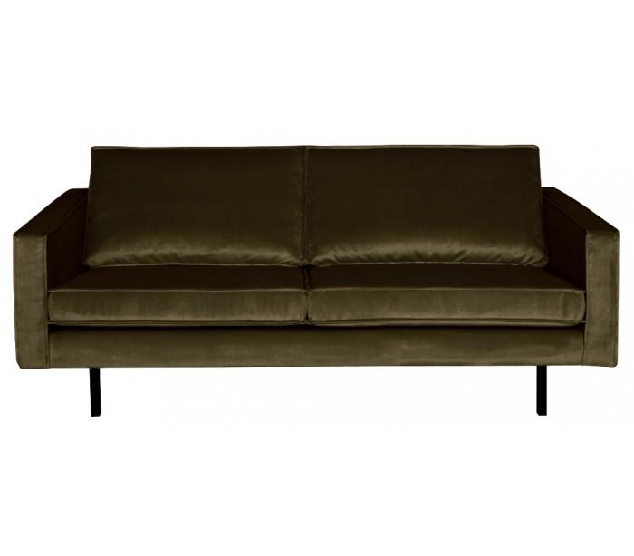 Image of 2,5-personers sofa i velour B190 cm - Mørkegrøn