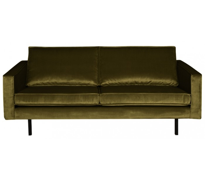 Image of   2,5-personers sofa i velour B190 cm - Oliven