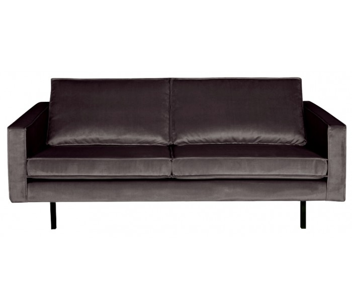 Image of   2,5-personers sofa i velour B190 cm - Antracit