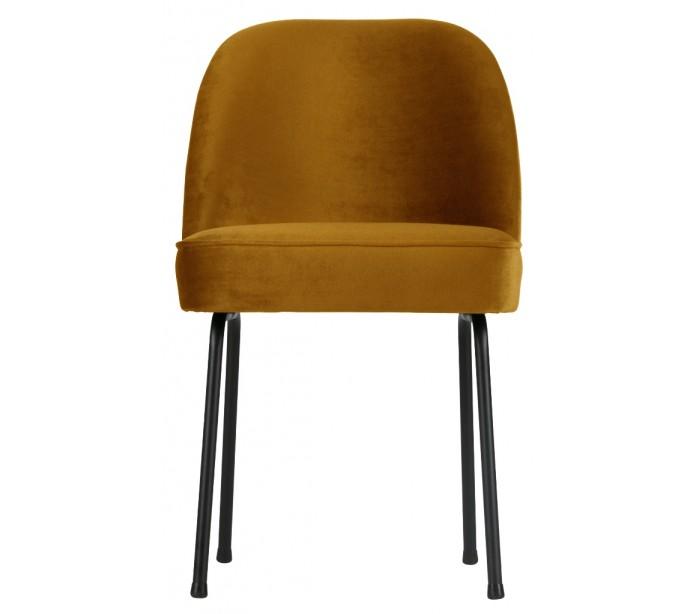 selected by lepong Spisebordsstol i velour h82,5 x b50 x d57 cm - sennepsgul fra lepong.dk