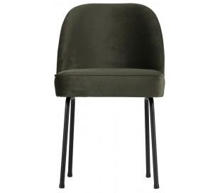 Spisebordsstol i velour H82,5 x B50 x D57 cm - Mørkegrøn