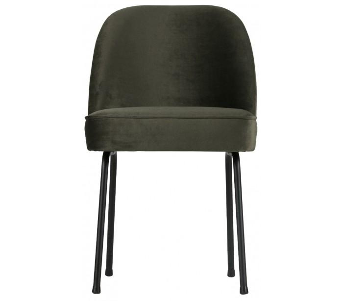 Spisebordsstol i velour h82,5 x b50 x d57 cm - mørkegrøn fra eglo fra lepong.dk
