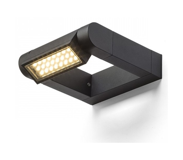Image of   AQUE udendørs væglampe 8W LED - Mat sort