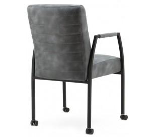 2 x Spisebordsstole i tekstil og metal H89 x B54 x D66 cm - Antracit