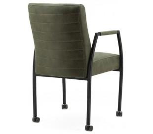 2 x Spisebordsstole i tekstil og metal H89 x B54 x D66 cm - Grøn