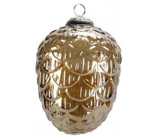 Juleophæng i glas H18 x Ø13 cm - Brun