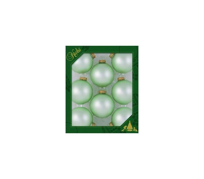 Sæt med 8 glaskugler ø6,7 cm - velvet green fra selected by lepong på lepong.dk