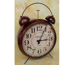 Gigant vækkeur i metal H155 cm - Antik rustbrun