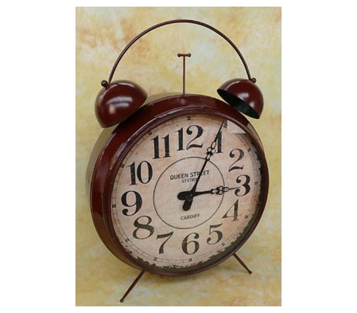 Image of   Gigant vækkeur i metal H155 cm - Antik rustbrun