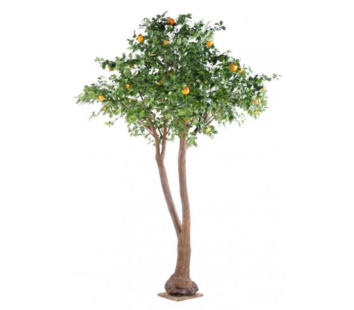 Image of   Stort kunstigt Appelsintræ H340 cm