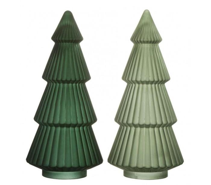 Juletræ i glas H40 x Ø18 cm - Assorteret grøn