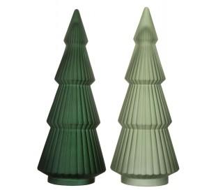 Juletræ i glas H54 x Ø20 cm - Assorteret grøn