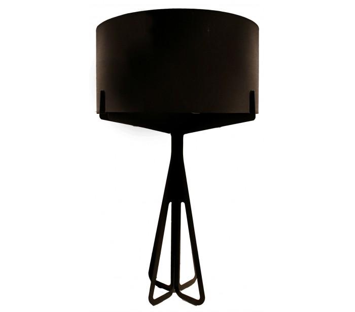 Stor gulvlampe H137 x Ø80 cm - Brun/Sort