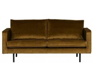 2,5-personers sofa i velour B190 cm - Honning