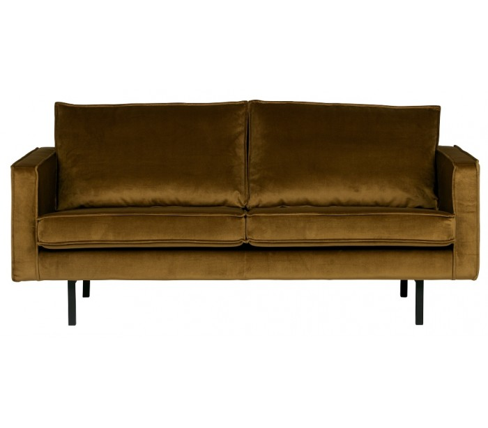 Image of   2,5-personers sofa i velour B190 cm - Honning