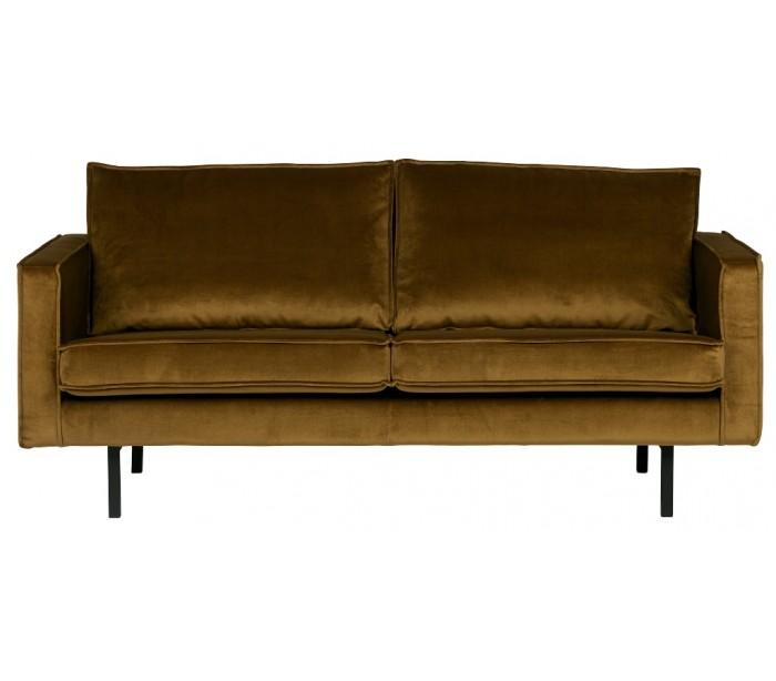 Image of 2,5-personers sofa i velour B190 cm - Honning