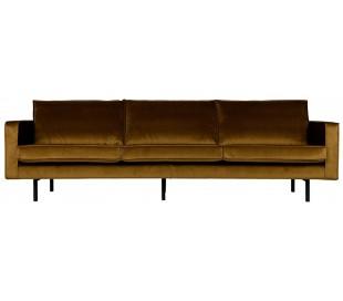 3-personers sofa i velour B277 cm - Honning