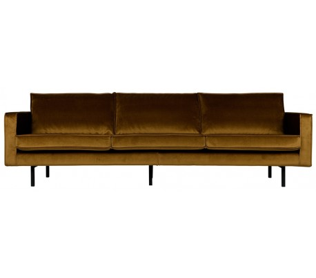 3-personers sofa i velour B277 cm – Honning