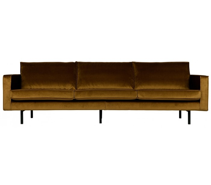 Image of   3-personers sofa i velour B277 cm - Honning
