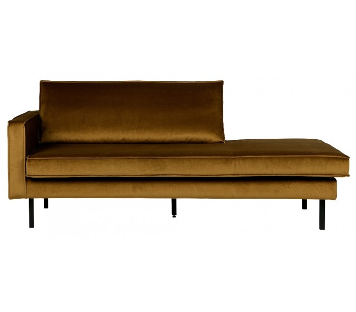 Image of   Daybed sofa i velour B206 cm - Honning
