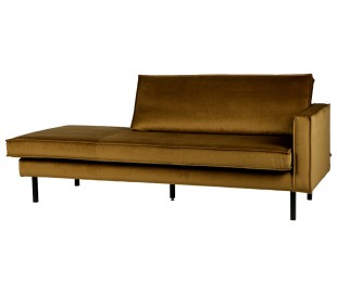Daybed sofa i velour B206 cm - Honning