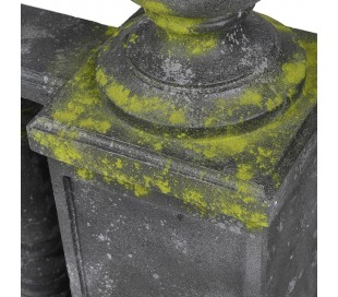Havevæg i fiberglas H79 cm x B143 cm - Antik grå