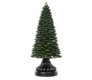 Juletræ i polyresin H40 cm - Antik grøn