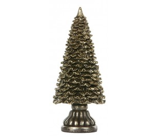 Juletræ i polyresin H23,5 cm - Antik champagne