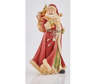 Julemand i polyresin H40 cm - Rød