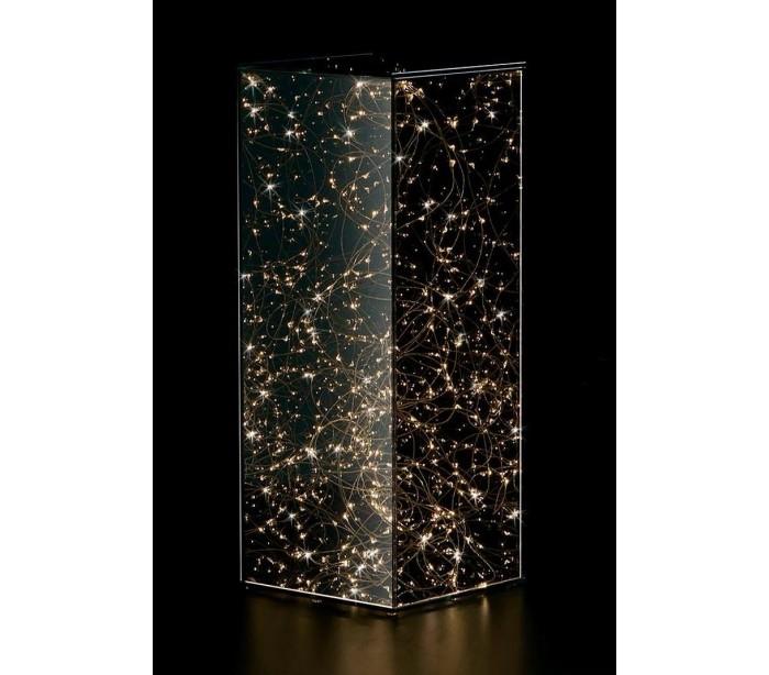 Piedestal i glas med 150 LED lys H50 x Ø20 cm - Klar