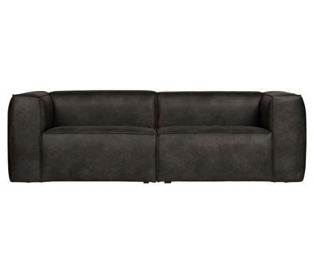 Moderne 3,5 personers sofa i læder 246 x 96 cm – Vintage sort