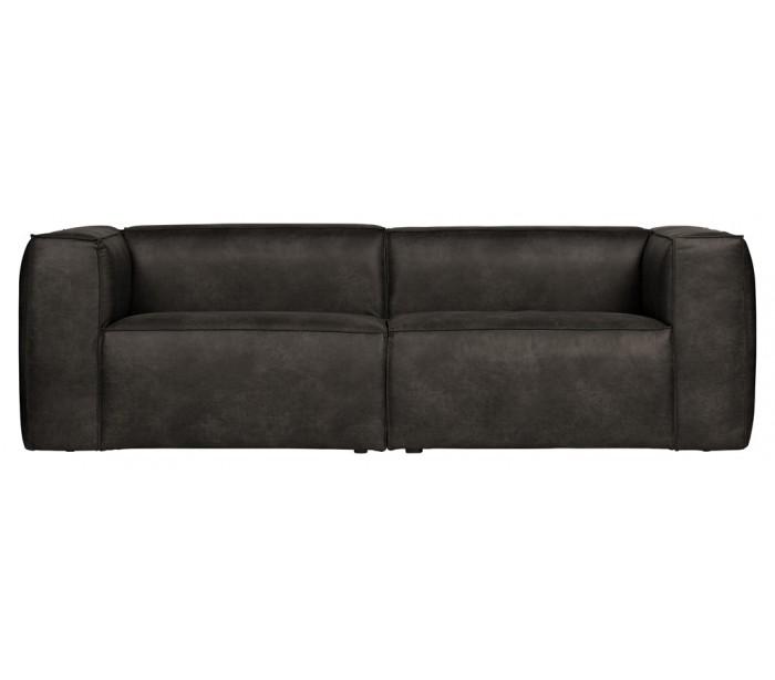 trio lighting – Moderne 3,5 personers sofa i læder 246 x 96 cm - sort på lepong.dk
