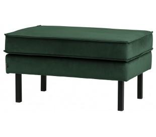Skammel i velour 84 x 54 cm - Grøn