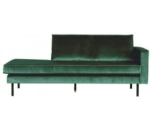 Daybed sofa i velour B206 cm - Grøn