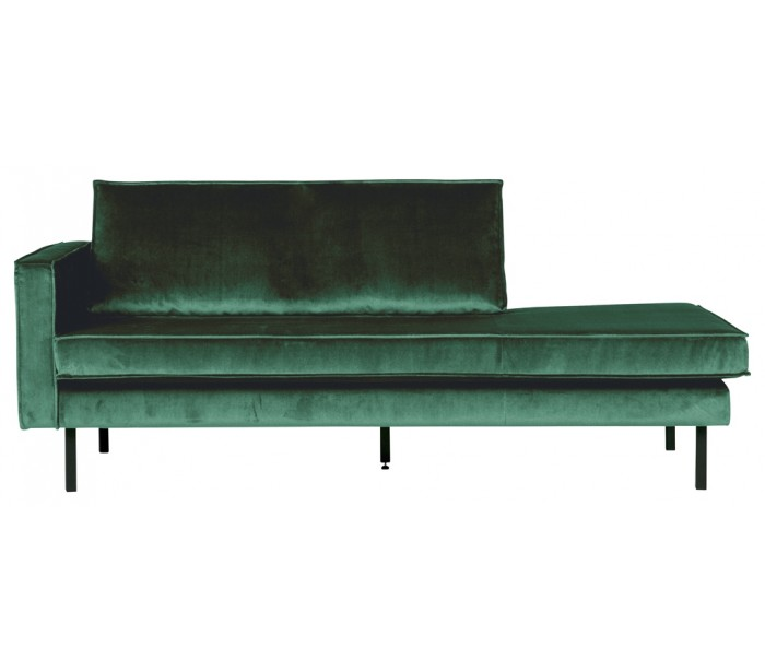 Image of   Daybed sofa i velour B206 cm - Grøn
