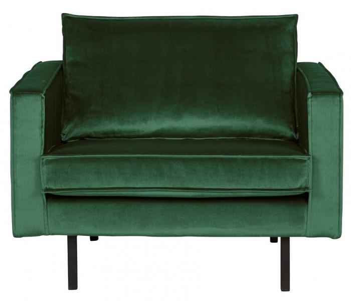 Lænestol i velour B105 cm – Grøn fra Selected by Lepong