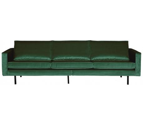 3-personers sofa i velour B277 cm – Grøn