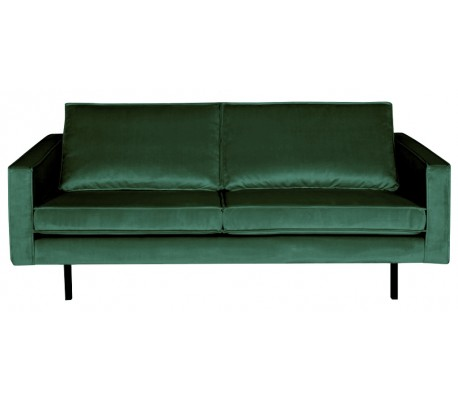 2,5-personers sofa i velour B190 cm – Grøn