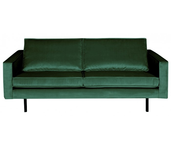 Image of 2,5-personers sofa i velour B190 cm - Grøn