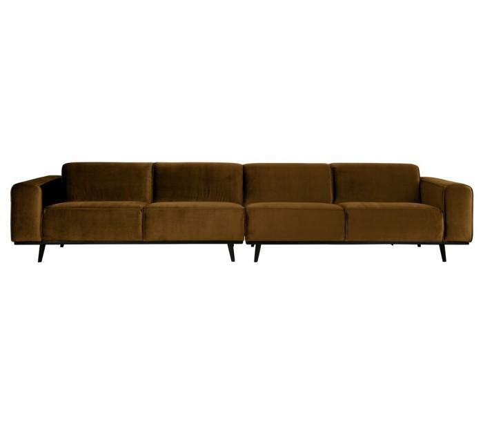 selected by lepong – 4-personers sofa i velour 372 cm - honninggul fra lepong.dk