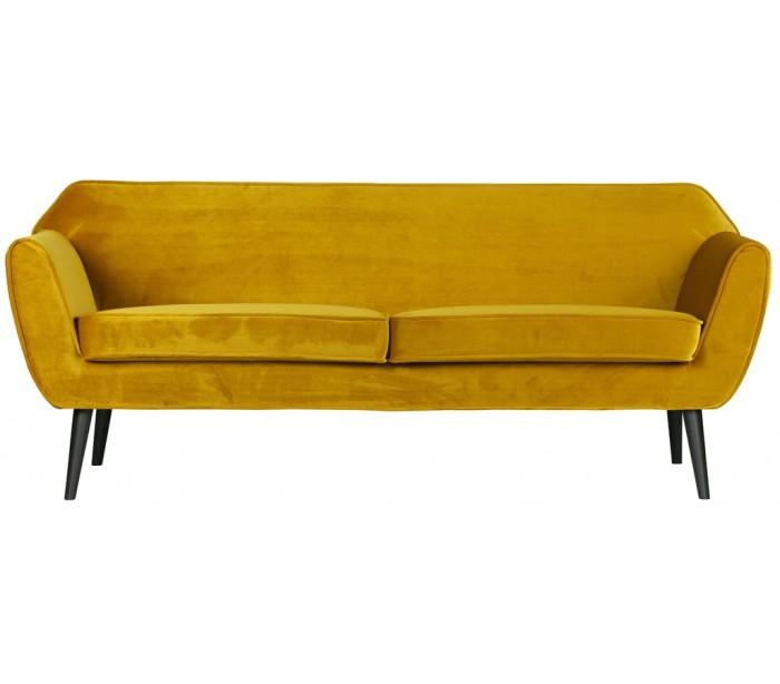 Image of   2,5-personers sofa B187 cm - Okker velour