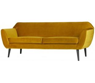 2,5-personers sofa B187 cm - Okker velour